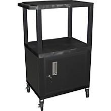 "H. Wilson Tuffy Plastic 42"" 3-Shelf Cart/Cabinet"
