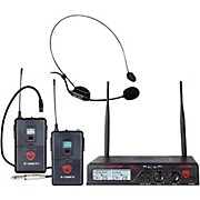 Nady U-2100 Dual 100-Channel UHF Wireless Instrument/Guitar and Headmic Microphone System/Band A/B