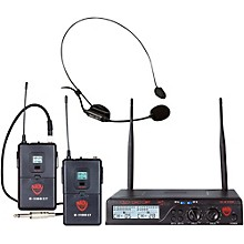 Nady U-2100 HM/GT - Dual 100 Channel Wireless Instrument and Headmic System