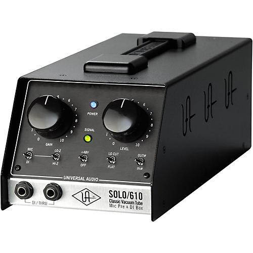 Universal Audio UA-S610 SOLO/610 Classic Vacuum Tube Microphone Preamp and DI Box-thumbnail