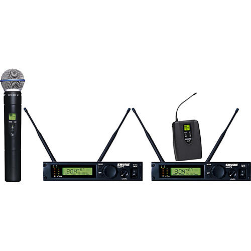 Shure ULXP124/BETA58A Dual Channel Mixed Wireless System-thumbnail