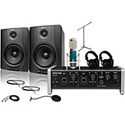 Tascam US-2x2 MXL 4000 and M Audio BX5 Recording Package 2
