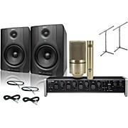 Tascam US-4x4 MXL 990/991 M-Audio BX5 Recording Package