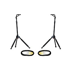 Ultimate Support GS-100 Genesis Single Guitar Stand 2-Pack w/Free Cables (13710-2PK-KIT)