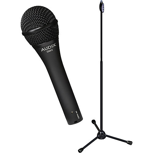 Audix Ultimate Support OM-2 Microphone with LIVE-T 1-Hand Height Adjustment Mic Stand Pack