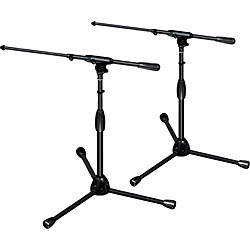 Ultimate Support TOUR-T-SHORT-T Pkg-tripod base/telescoping boom,short height 2-Pack (TOUR-T-SHORT-T-2Pack)