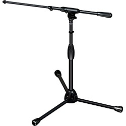 Ultimate Support TOUR-T-SHORT-T Tripod Mic Stand with Telescoping Boom (TOUR-T-SHORT-T)