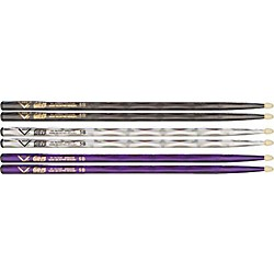 Vater Color Wrap 5B Hickory Drumstick 4-Pack (V4PK5BB)