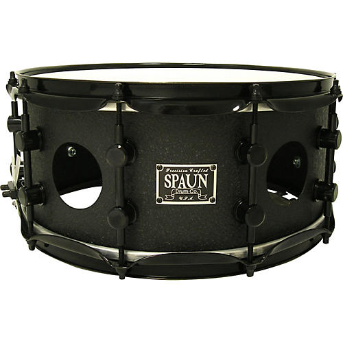 Spaun Vented Steel Snare Black Wrinkle-thumbnail