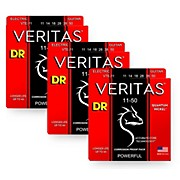 DR Strings Veritas - Accurate Core Technology Heavy Electric Guitar Strings (11-50) 3-PACK