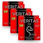 DR Strings Veritas - Accurate Core Technology Light Electric Guitar Strings (9-42) 3-PACK