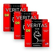 DR Strings Veritas - Accurate Core Technology Medium Electric Guitar Strings (10-46) 3-PACK