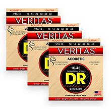 DR Strings Veritas - Perfect Pitch with Dragon Core Technology Custom Light Acoustic Strings (11-50) 3-PACK