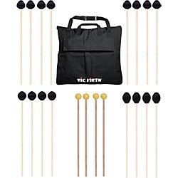 Vic Firth Keyboard Mallet 10-Pack w/ Free Mallet Bag - M182(2), M183(2), M188(4) ,M134(2) (M-10P-4M188)