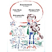 Editio Musica Budapest Viola Music for Beginners EMB Series by Various