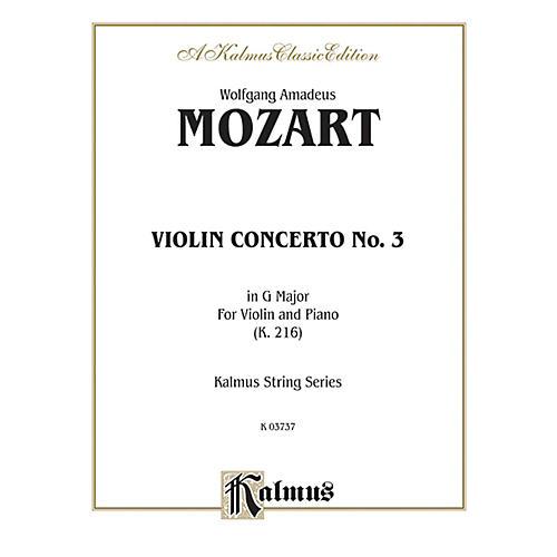Alfred Violin Concerto No. 3 in G Major K. 216 for Violin By Wolfgang Amadeus Mozart Book-thumbnail