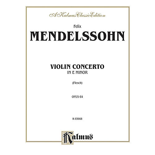 Alfred Violin Concerto Op. 64 for Violin By Felix Mendelssohn / arr. Carl Flesch Book-thumbnail