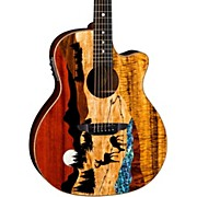 Luna Guitars Vista Deer Tropical Wood Acoustic-Electric Guitar