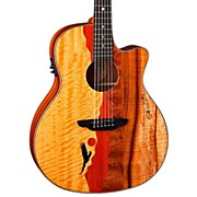 Luna Guitars Vista Eagle Koa Back and Sides Acoustic-Electric Guitar