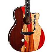Luna Guitars Vista Mustang Rosewood Back and Sides Acoustic-Electric Guitar