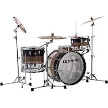 Ludwig Vistalite 45th Anniversary Tri-Band Black 3-Piece Shell Pack