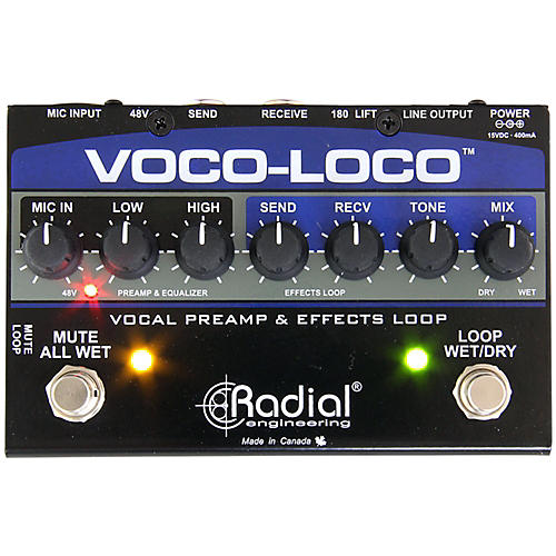 Radial Engineering Voco-Loco Vocal Preamp and Effect Switcher-thumbnail