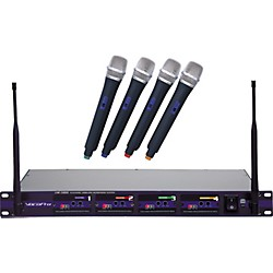 VocoPro UHF-5800 4-Microphone Wireless System (UHF-5800-3)