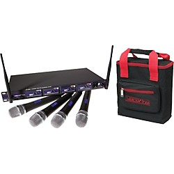 VocoPro UHF-5800 Plus 4-Mic Wireless System with Mic Bag (USED004000 UHF-5800-3 PLU)