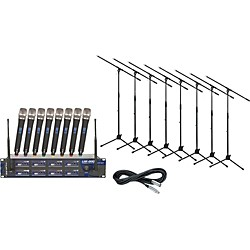 VocoPro UHF-8800 8-Channel Wireless Package (UHF8800Pack)