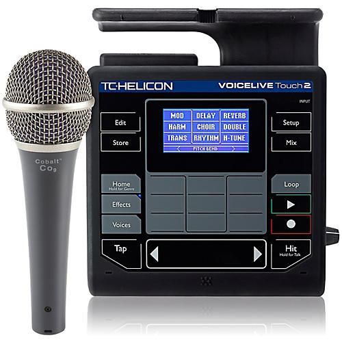 TC Helicon VoiceLive Touch 2 with Cobalt CO9 Mic Bundle-thumbnail