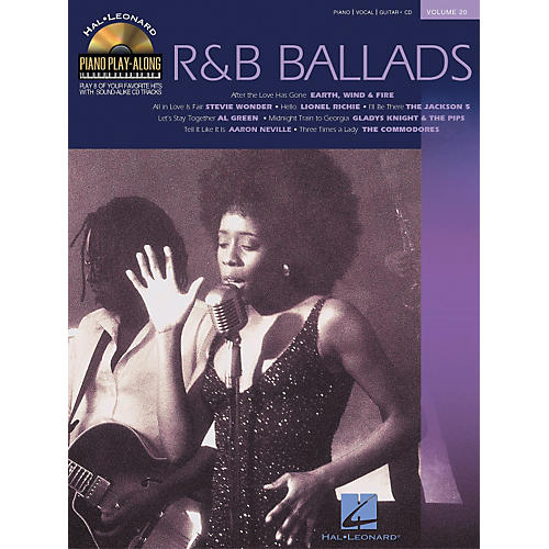 Hal Leonard Volume 20 R&B Ballads Piano Play-Along Piano Vocal & Guitar Songbook with CD