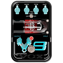 Vox Tone Garage V8 Distortion Guitar Effects Pedal (TG1V8DS)