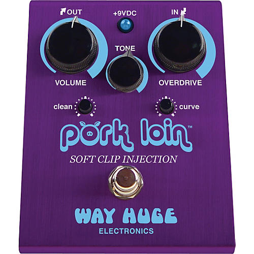 Way Huge Electronics WHE201 Pork Loin Soft Clip Injection Overdrive Guitar Effects Pedal-thumbnail