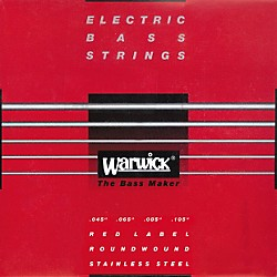 Warwick Red Label Stainless Wound Medium 4-String Bass Strings (WWS42200)
