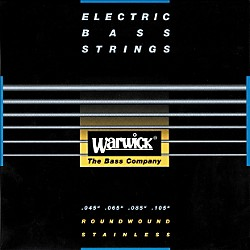 Warwick Red Label Stainless Wound Medium Light 4-String Bass Strings (WWS42210)