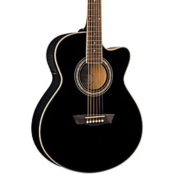 Washburn Festival EA12 Acoustic Cutaway Electric Mini Jumbo Guitar With 4-Band EQ (EA12B)