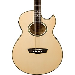 Washburn Festival EA20 Spruce Top Acoustic Cutaway Electric Mini Jumbo Flame Maple Guitar with 4-Band EQ (EA20)