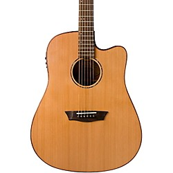 Washburn WD160SWCE Solid Wood Acoustic Electric Guitar (WD160SWCE)
