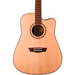 Washburn WD30SCE Solid Sitka Spruce Top Cutaway Acoustic-Electric Dreadnought Guitar (WD30SCE)