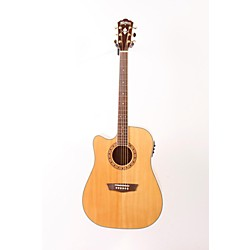 Washburn WD30SCEL Left-Handed Solid Sitka Spruce Top Cutaway Acoustic-Electric Dreadnought Guitar (USED007001 USM-WD30SCELH)