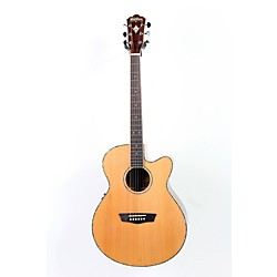 Washburn WG16SCE Solid Cedar Top Acoustic Cutaway Electric Grand Auditorium Mahogany Guitar With Fishman Prea (USED005026 WG16SCE)