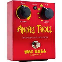 Way Huge Electronics WHE101 Angry Troll Boost Guitar Effects Pedal (WHE101)