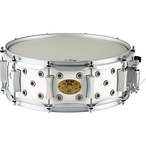 Pork Pie White Satin Little Squealer Snare Drum-thumbnail