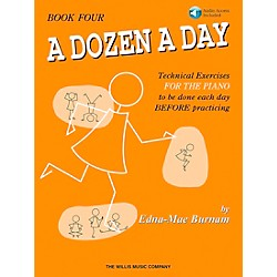 Willis Music A Dozen A Day Book 4 Book/CD (416761)
