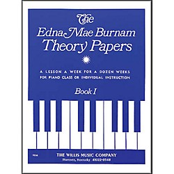 Willis Music Edna Mae Burnam Theory Papers Book 1 For Piano (416250)