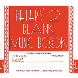 Willis Music Peters' Blank Music Book 2 (415605)