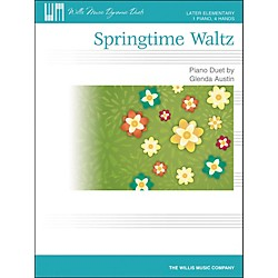 Willis Music Springtime Waltz - Later Elementary Piano Duet Sheet (1 Piano, 4 Hands) by Glenda Austin (416851)