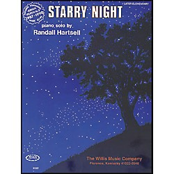 Willis Music Starry Night Later Elementary Piano Solo by Randall Hartsell (405342)