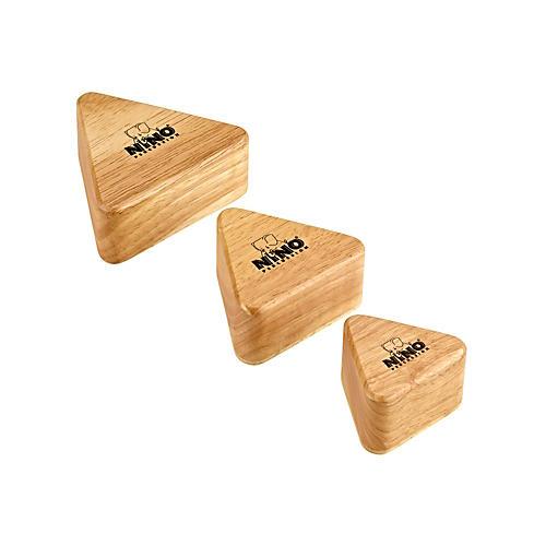 Nino Wood Shakers Triangular 3 Piece Set