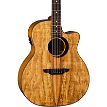 Luna Guitars Woodland Spalted Maple Solid Top Acoustic Electric Guitar